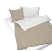 Balsiger Textil Mia duvet cover Ivory, Taupe Cotton