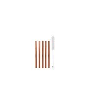 Strawganic 102116 reusable drinking straw Rose gold Stainless steel 5 pc(s)