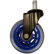 LC-Power LC-CASTERS-7DB-SPEED office/computer chair part Blue Plastic, Rubber Castor wheels