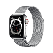 Apple Watch Series 6 40 mm OLED 4G Silber GPS
