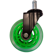 LC-Power LC-CASTERS-7BG-SPEED office/computer chair part Green Plastic, Rubber Castor wheels