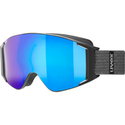 Uvex g.gl 3000 TO winter sport goggles Black Unisex Blue, Mirror Cylindrical(flat) lens
