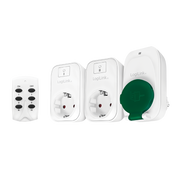 LogiLink EC0009 power plug adapter Type F Green, White