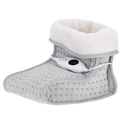 Adler AD 7432 electric blanket Electric heated wrap 100 W Grey, White Plush, Synthetic wool