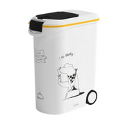 Curver Dinner is Served Pet food storage container Plastic Black, White, Yellow