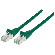 Intellinet Network Patch Cable, Cat7 Cable/Cat6A Plugs, 2m, Green, Copper, S/FTP, LSOH / LSZH, PVC, RJ45, Gold Plated Contacts, Snagless, Booted, Polybag