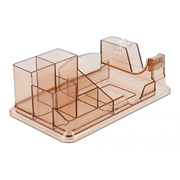 DeLOCK 18341 desk tray/organizer Plastic Brown, Transparent