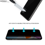 KAPSOLO Privacy Tempered GLASS iPhone 12 Pro / 12 Sreen Protection