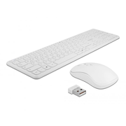 DeLOCK 12703 keyboard RF Wireless QZERTY German White
