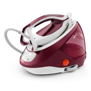 Tefal GV9220 steam ironing station 2600 W Durilium AirGlide Autoclean soleplate Burgundy, White