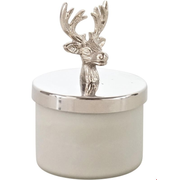 HOFF Interieur Candle box deer candle holder Glass Silver, White