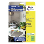 Avery Zweckform 3450-10 self-adhesive label Rectangle Permanent Green 240 pc(s)