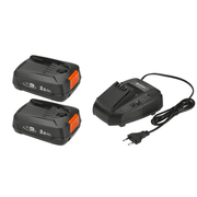 Gardena P4A 2 x PBA 18V/45 + AL 1830 CV Battery & charger set