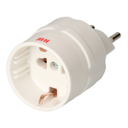 Max Hauri AG 131459 power plug adapter Type J (CH) Type E/F hybrid White