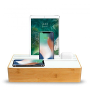 ALL DOCK Wireless Family Weiß, Holz Indoor