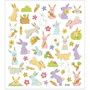 Creativ Company Stickers, Easter Bunny, 15x16,5 cm, 1 Sheet