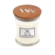 WoodWick Coconut & Tonka wax candle Round White 1 pc(s)