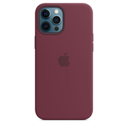 Apple iPhone 12 Pro Max Silicone Case with MagSafe - Plum