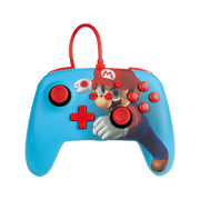 PowerA Enhanced Wired Controller For Nintendo Switch – Mario Punch Multicolour USB Gamepad Analogue / Digital
