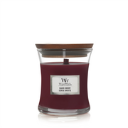WoodWick Black Cherry wax candle Round Blackberry, Cane sugar, Pomegranate Red 1 pc(s)