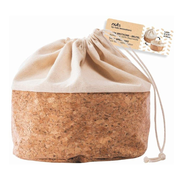 Nuts Innovations KB10 bread basket Round Cork, Cotton, Fabric Brown, Wood