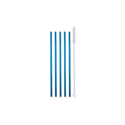 Strawganic 102107 reusable drinking straw Blue Stainless steel 5 pc(s)