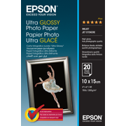 Epson Ultra Glossy Photo Paper - 10x15cm - 20 Sheets
