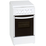 Exquisit EH10.3F cooker Freestanding cooker Ceramic White A