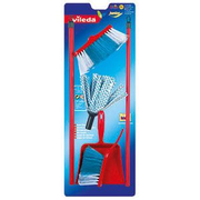 Theo Klein Vileda cloth with brush and pan set mop Red