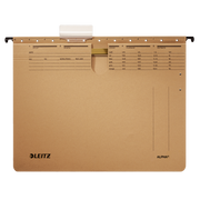 Leitz Alpha hanging folder A4 Cardboard, Metal Brown