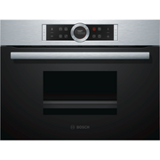 Bosch Serie 8 CDG634AS0 steam oven Small Black, Stainless steel Buttons, Touch