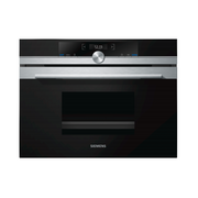 Siemens iQ700 CD634GAS0 oven 38 L 1750 W Black, Stainless steel