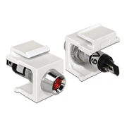 DeLOCK 86447 wire connector Keystone LED Black, Red, Stainless steel, White