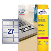 Avery Zweckform L6011-20 self-adhesive label Rounded rectangle Permanent Silver 540 pc(s)
