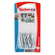 Fischer 90927, Hollow wall anchor (molly), Gypsum fibre board, Plasterboard, Metal, Silver, M5, CE