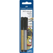 Faber-Castell 167396 fineliner Gold, Silver 2 pc(s)