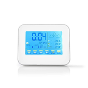 Nedis WEST401WT digital weather station White, Silver