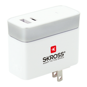 Skross US USB Charger Type-C Grey, White Indoor
