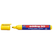 Edding 30 Brilliant permanent marker Bullet tip Yellow 1 pc(s)