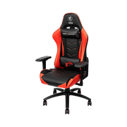 MSI MAG CH120 Gaming Chair 'Black and Red, Steel frame, Recline-able backrest, Adjustable 4D Armrests, breathable foam, 4D Armrests, Ergonomic headrest pillow, Lumbar support cushion'