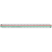 Faber-Castell 176532-B Desk ruler 30 cm Plastic Green, Red, White 1 pc(s)