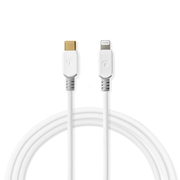 Nedis CCBW39650WT20 lightning cable 2 m White