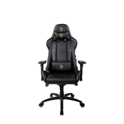 Arozzi Verona -SIG-PU-GD video game chair PC gaming chair Upholstered padded seat Black, Yellow