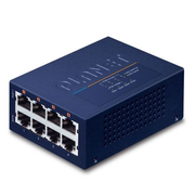 PLANET UPOE-400 network switch Fast Ethernet (10/100) Power over Ethernet (PoE) Blue