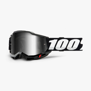100% Accuri 2 winter sport goggles Black Unisex Mirror, Silver Cylindrical(flat) lens