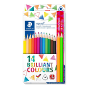 Staedtler 157 colour pencil Black, Blue, Bordeaux, Brown, Green, Light Blue, Light Cyan, Mauve, Orange, Peach, Red, Yellow 14 pc(s)