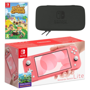 """Nintendo Switch Lite (Coral) Animal Crossing: New Horizons Pack + NSO 3 months portable game console 14 cm (5.5"""") 32 GB Touchscreen Wi-Fi"""