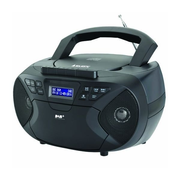 New Majestic AH-2430 DAB portable stereo system Analog Black