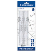 Staedtler 562 152 PB ruler 15 cm Plastic Transparent 2 pc(s)