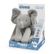 GUND Baby Animated Flappy the Elephant Stuffed Animal Plush, Gray, 12""